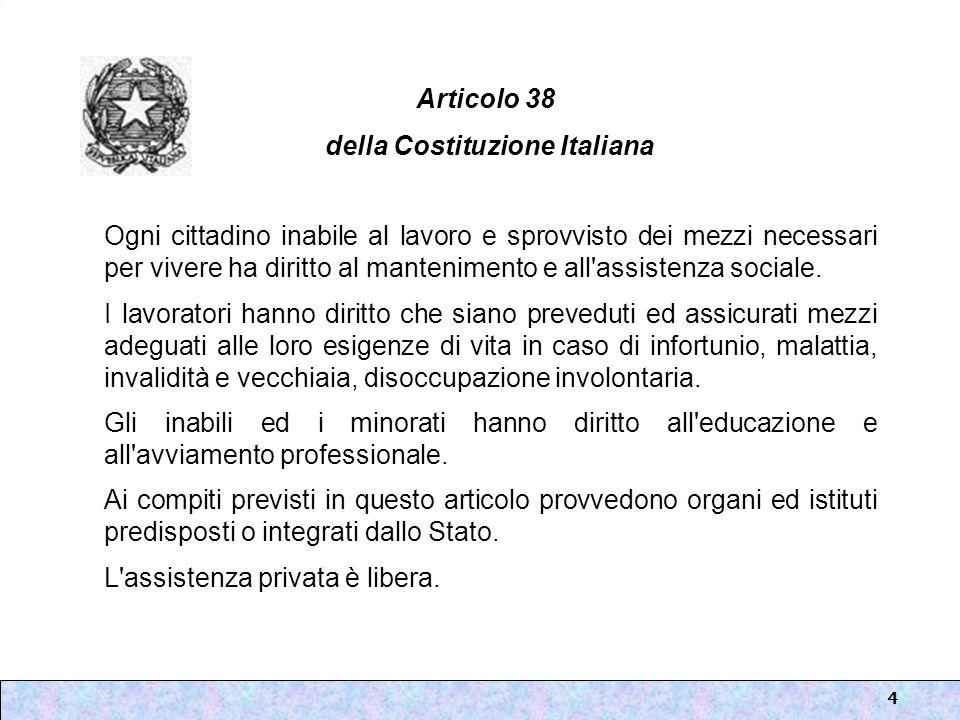 Articolo 38 della Costituzione Italiana