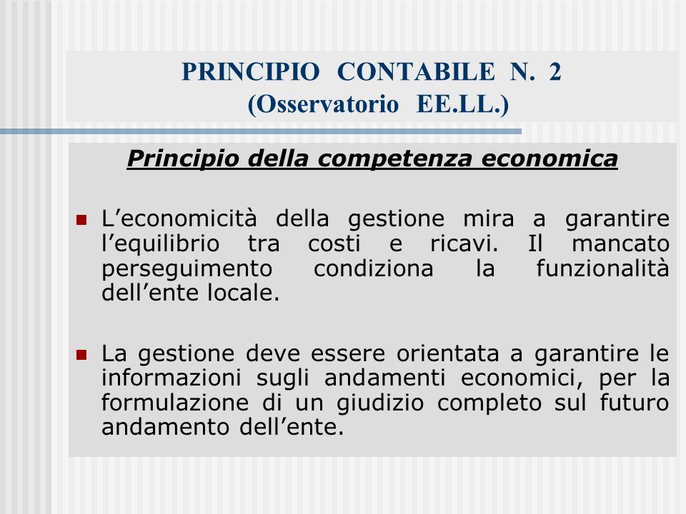 PRINCIPIO CONTABILE N. 2 (Osservatorio EE.LL.)