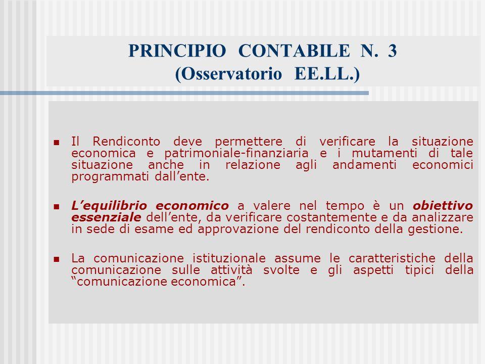 PRINCIPIO CONTABILE N. 3 (Osservatorio EE.LL.)