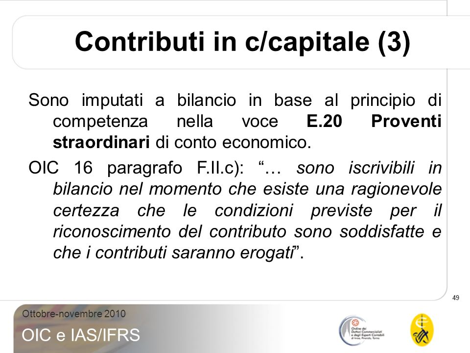 Contributi in c/capitale (3)