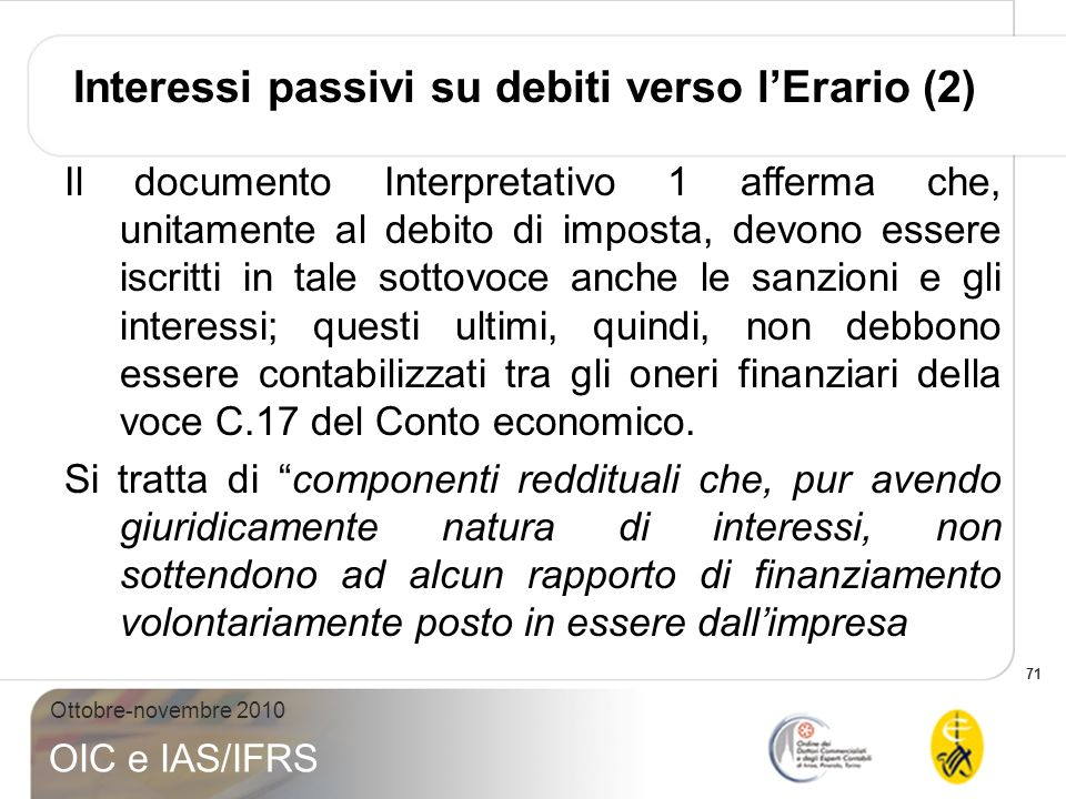 Interessi passivi su debiti verso l'Erario (2)