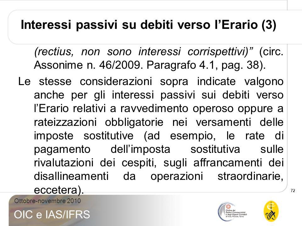 Interessi passivi su debiti verso l'Erario (3)