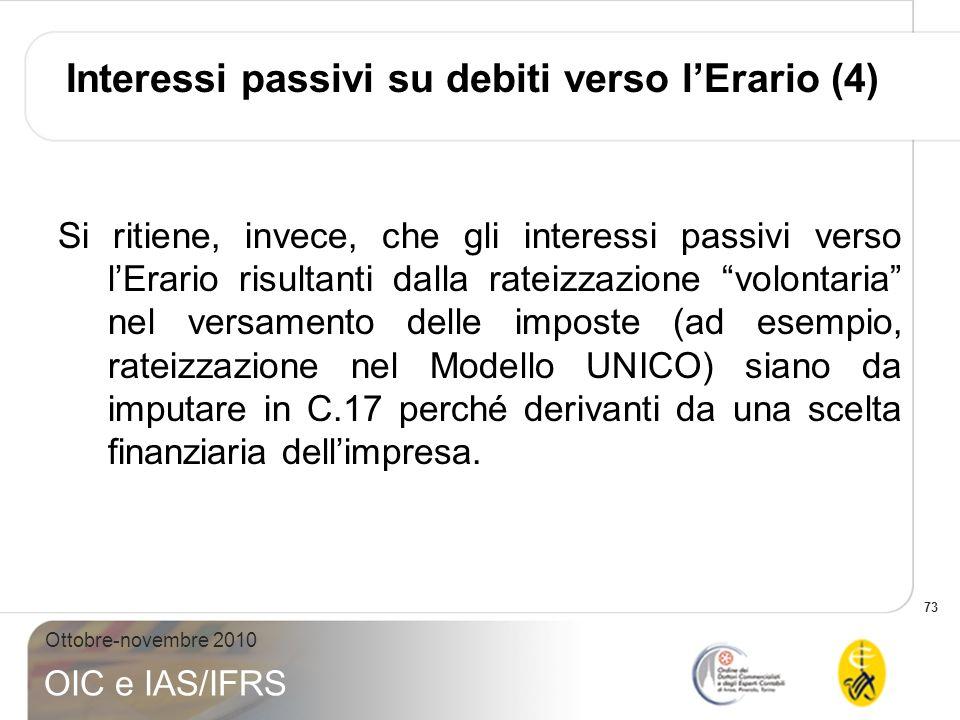Interessi passivi su debiti verso l'Erario (4)