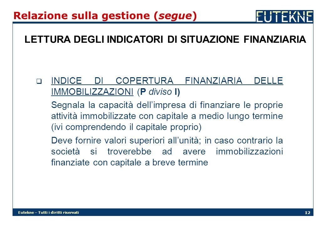 Relazione sulla gestione (segue)