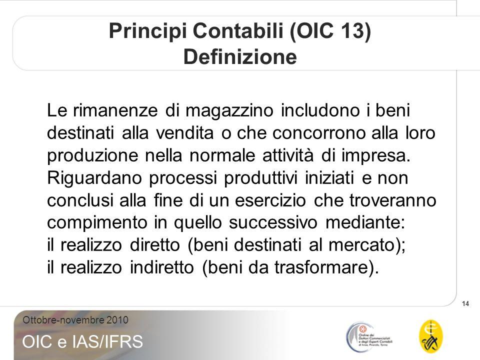 Principi Contabili (OIC 13) Definizione