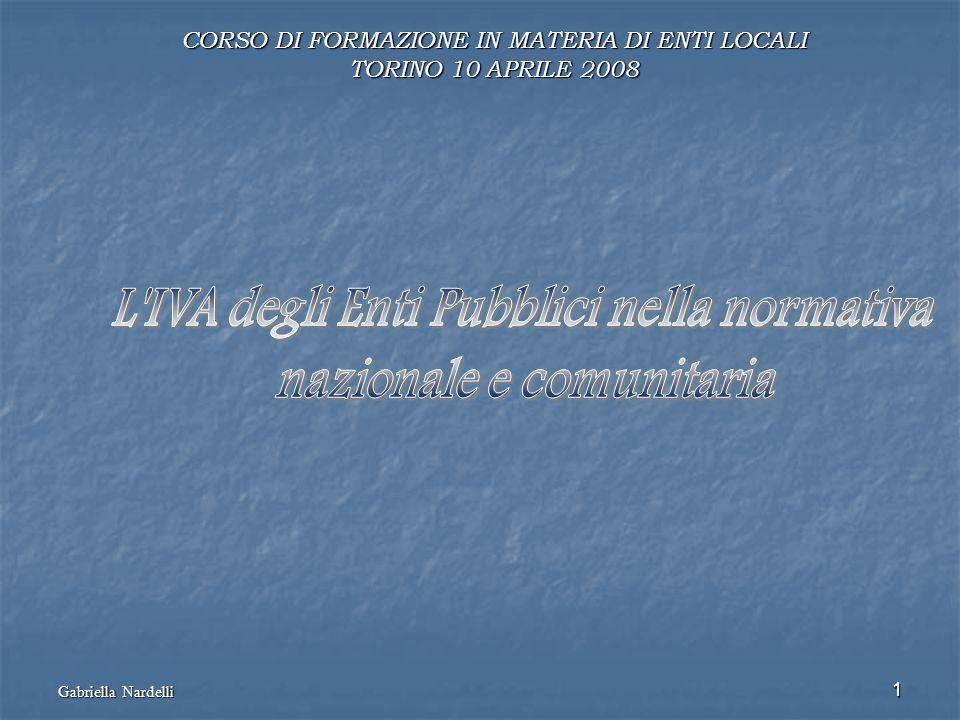 L IVA degli Enti Pubblici nella normativa nazionale e comunitaria