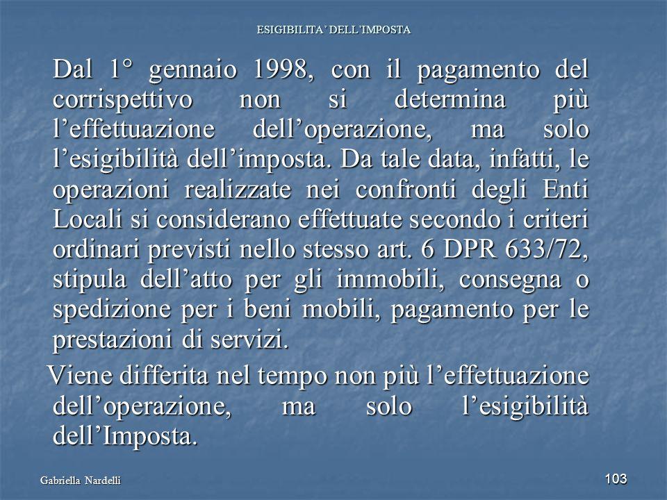 ESIGIBILITA' DELL'IMPOSTA