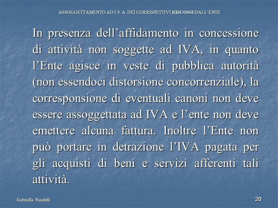 ASSOGGETTAMENTO AD I.V.A. DEI CORRISPETTIVI RISCOSSI DALL'ENTE