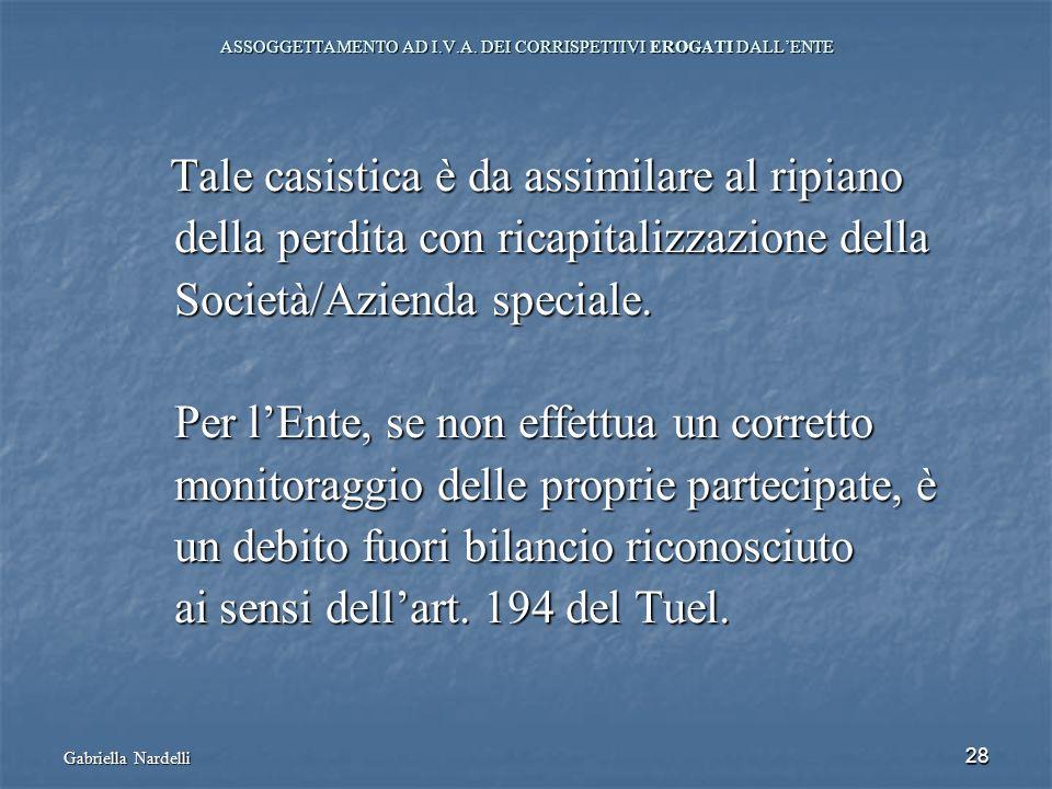 ASSOGGETTAMENTO AD I.V.A. DEI CORRISPETTIVI EROGATI DALL'ENTE