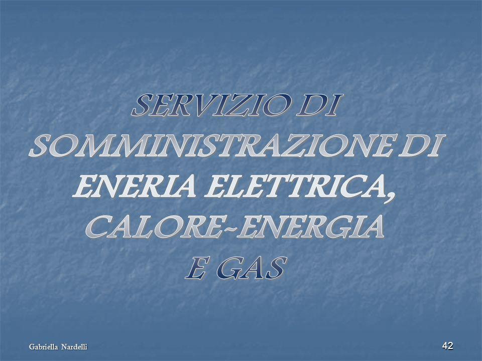 SERVIZIO DI SOMMINISTRAZIONE DI ENERIA ELETTRICA, CALORE-ENERGIA E GAS