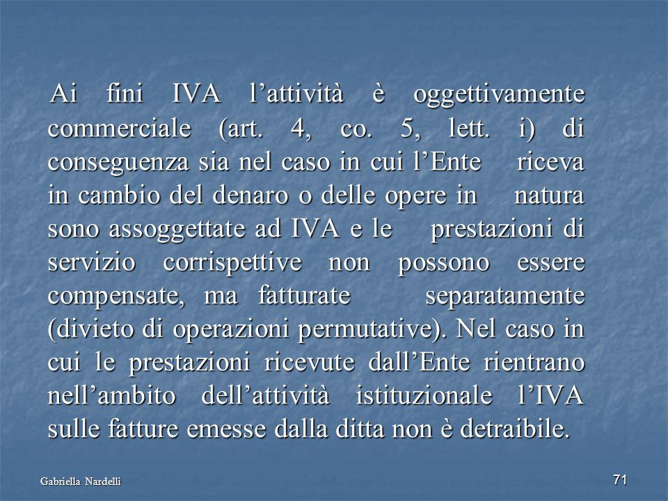 Ai fini IVA l'attività è oggettivamente commerciale (art. 4, co