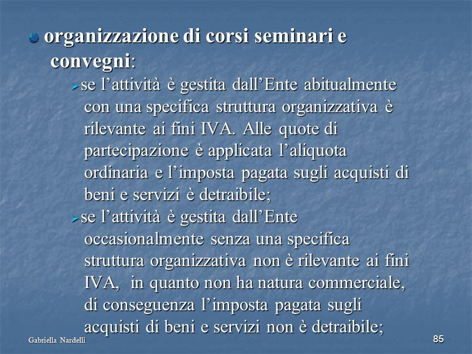 organizzazione di corsi seminari e convegni: