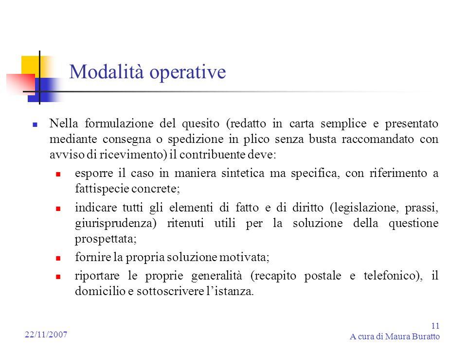 Modalità operative
