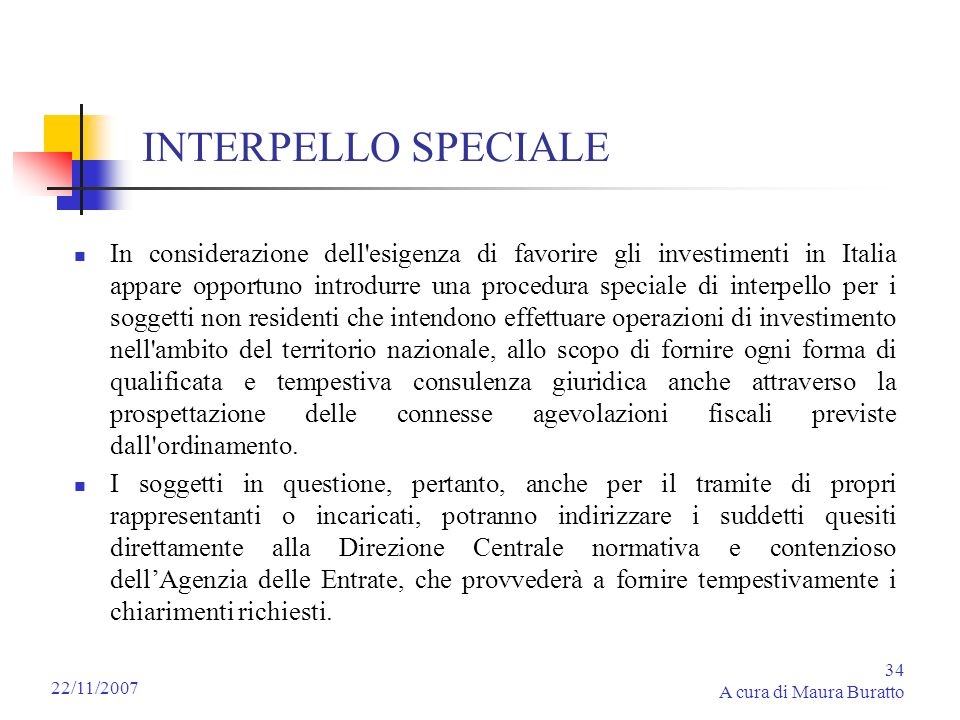 INTERPELLO SPECIALE