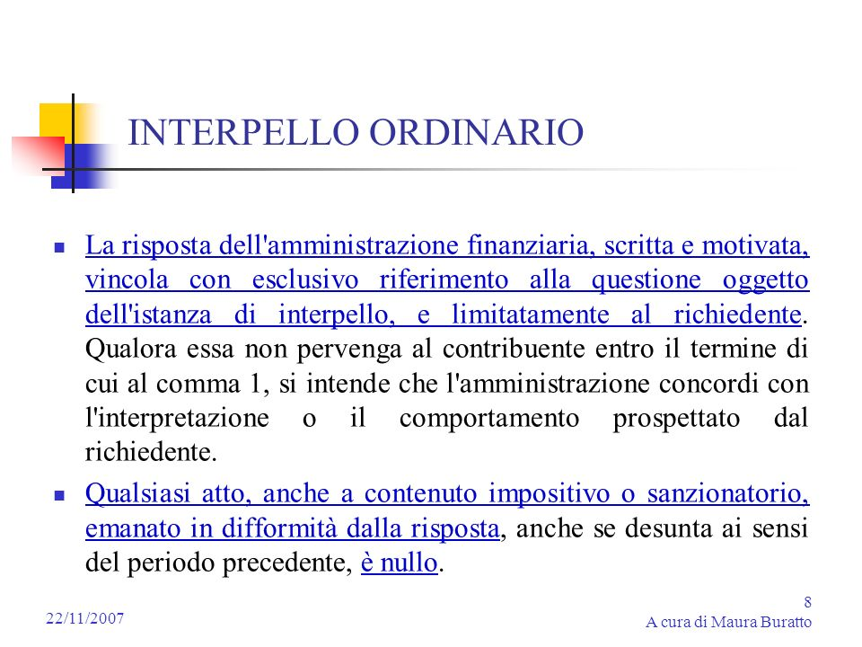 INTERPELLO ORDINARIO