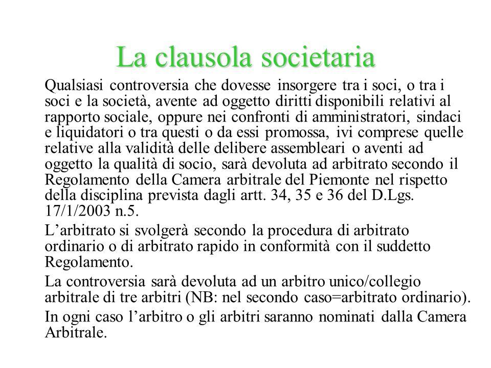 La clausola societaria