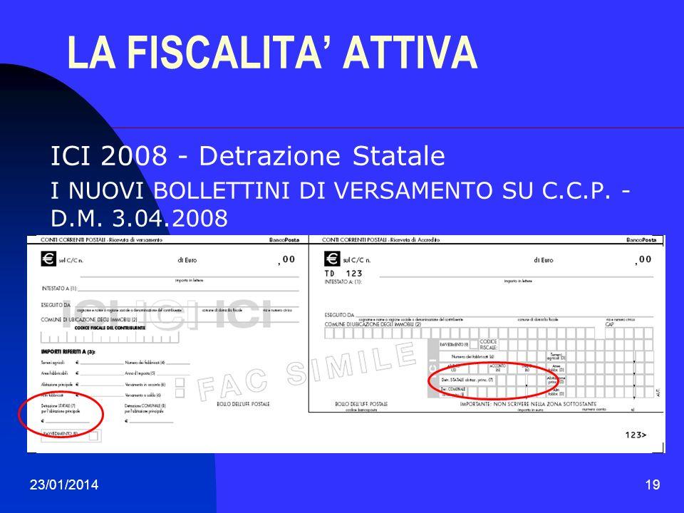 LA FISCALITA' ATTIVA ICI 2008 - Detrazione Statale