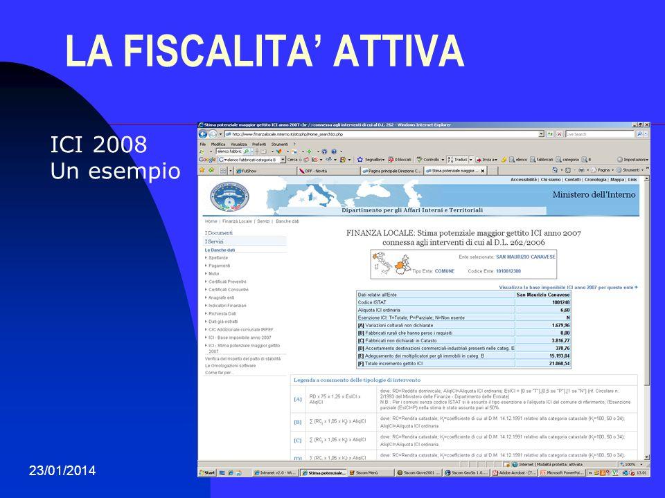 LA FISCALITA' ATTIVA ICI 2008 Un esempio 27/03/2017