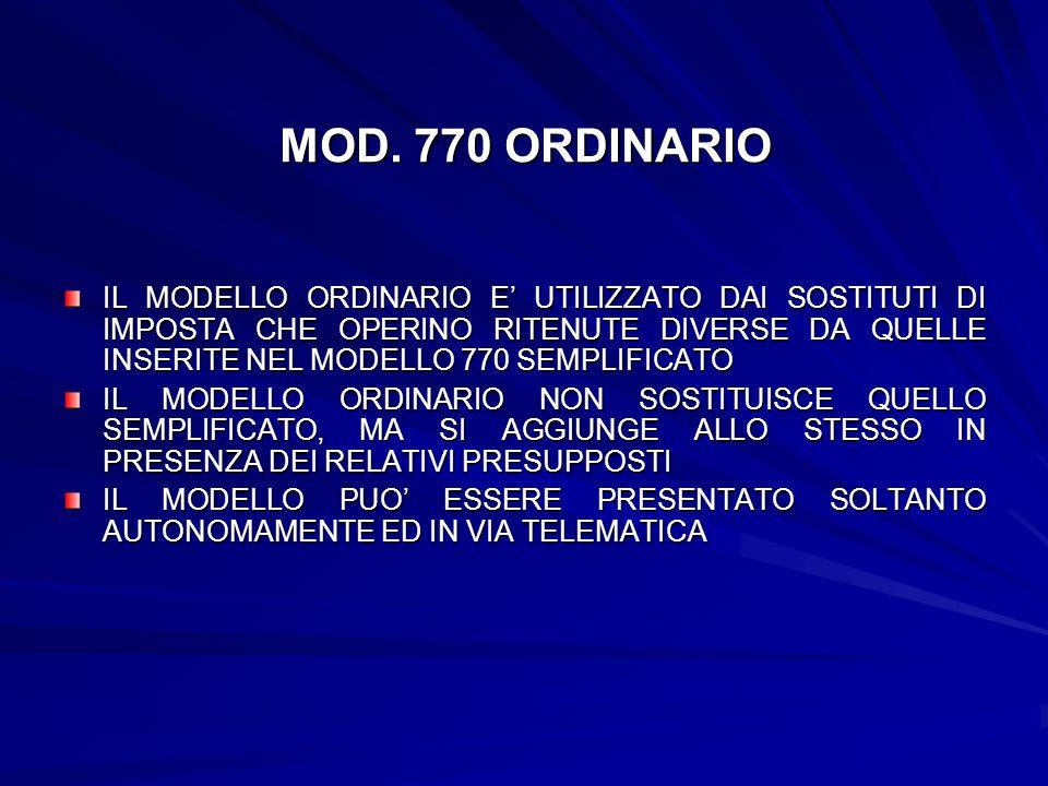 MOD. 770 ORDINARIO