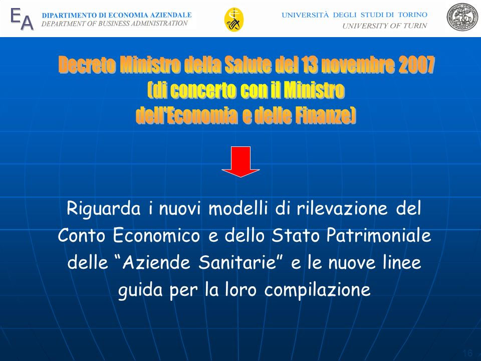 Decreto Ministro della Salute del 13 novembre 2007