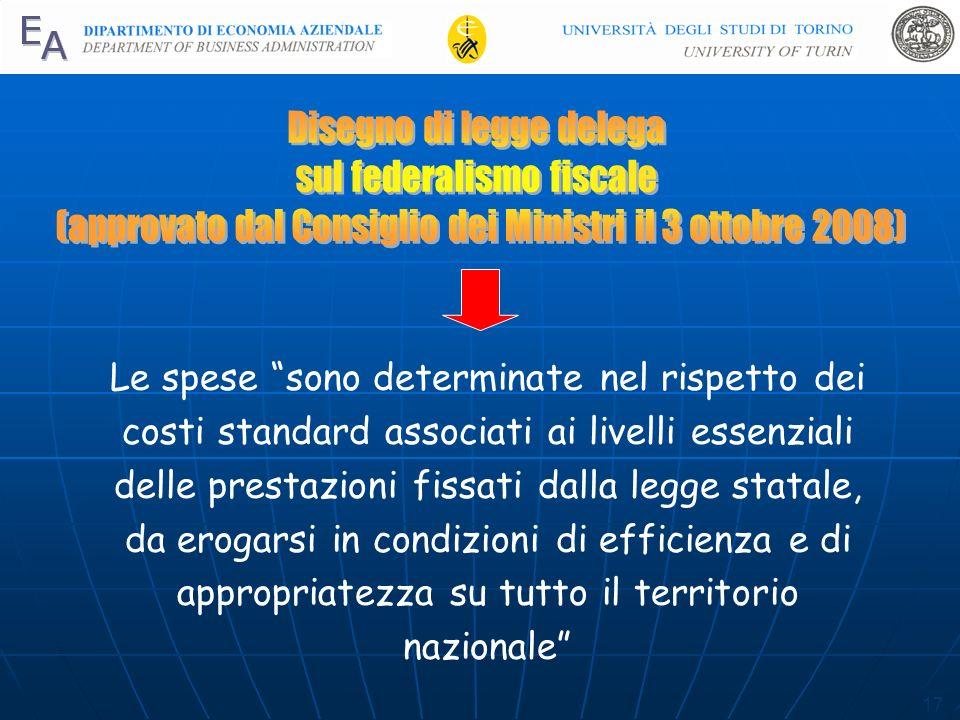 Disegno di legge delega sul federalismo fiscale