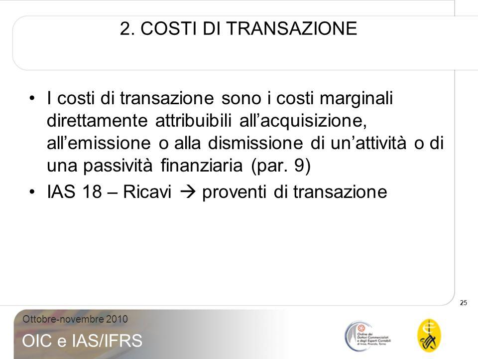 2. COSTI DI TRANSAZIONE