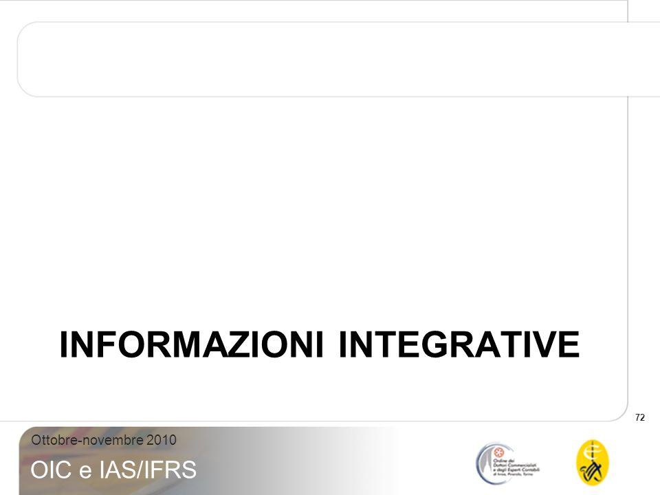 Informazioni integrative