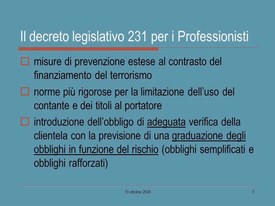 Il decreto legislativo 231 per i Professionisti