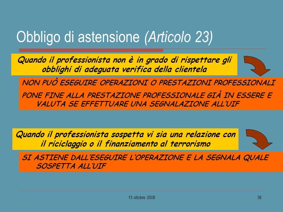Obbligo di astensione (Articolo 23)