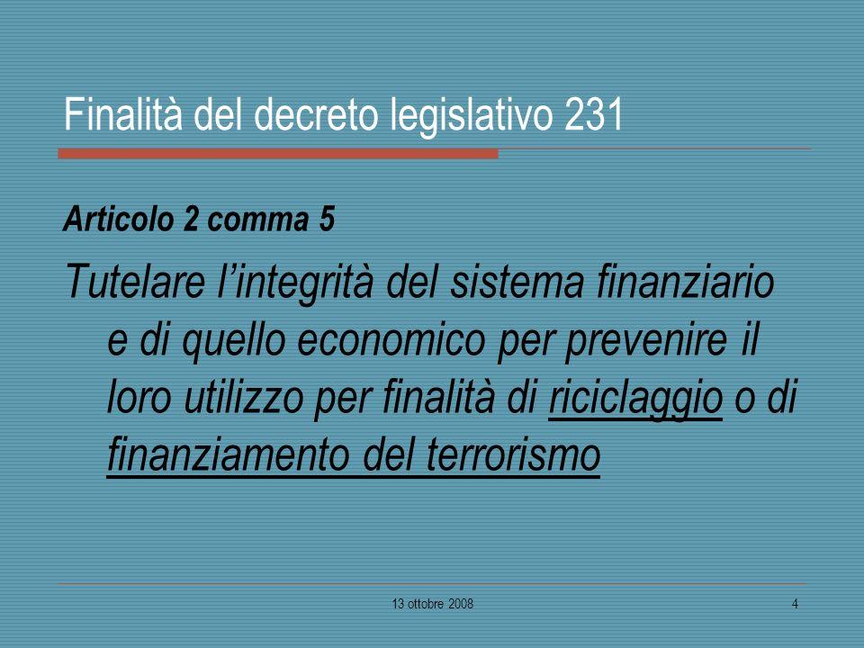 Finalità del decreto legislativo 231
