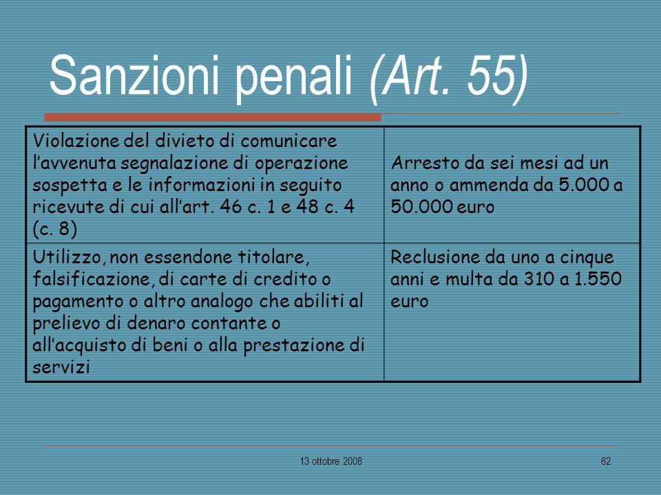 Sanzioni penali (Art. 55)