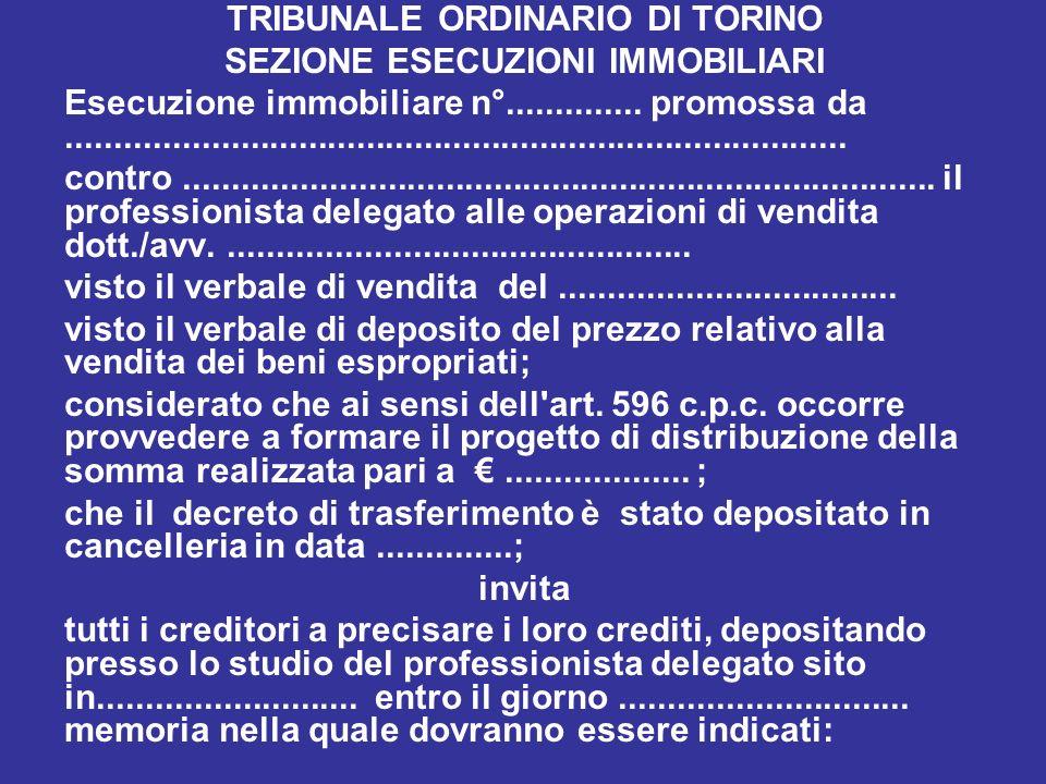 TRIBUNALE ORDINARIO DI TORINO