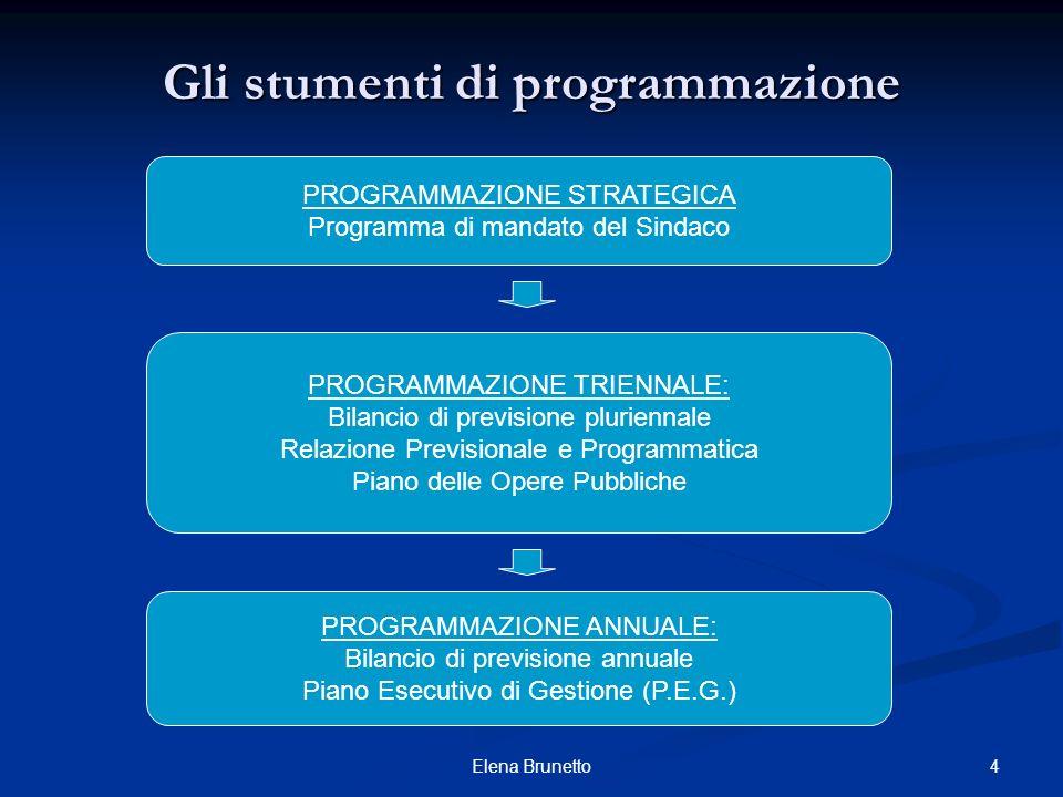Gli stumenti di programmazione