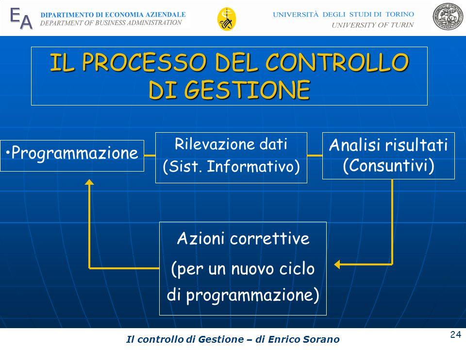 IL PROCESSO DEL CONTROLLO DI GESTIONE