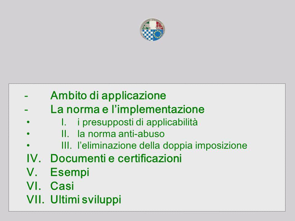- Ambito di applicazione - La norma e l'implementazione