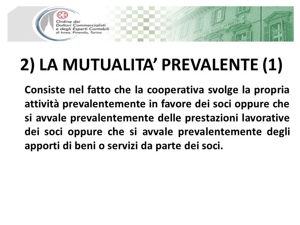 2) LA MUTUALITA' PREVALENTE (1)