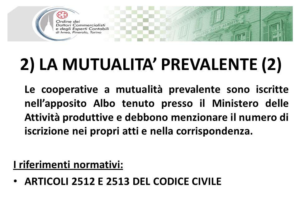 2) LA MUTUALITA' PREVALENTE (2)