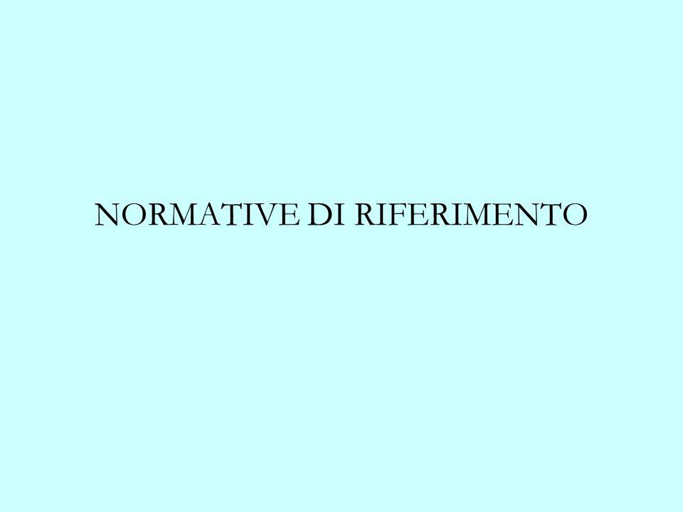NORMATIVE DI RIFERIMENTO