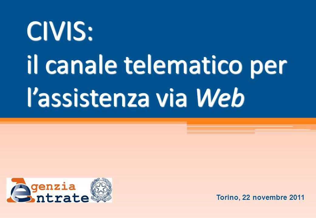 CIVIS: il canale telematico per l'assistenza via Web