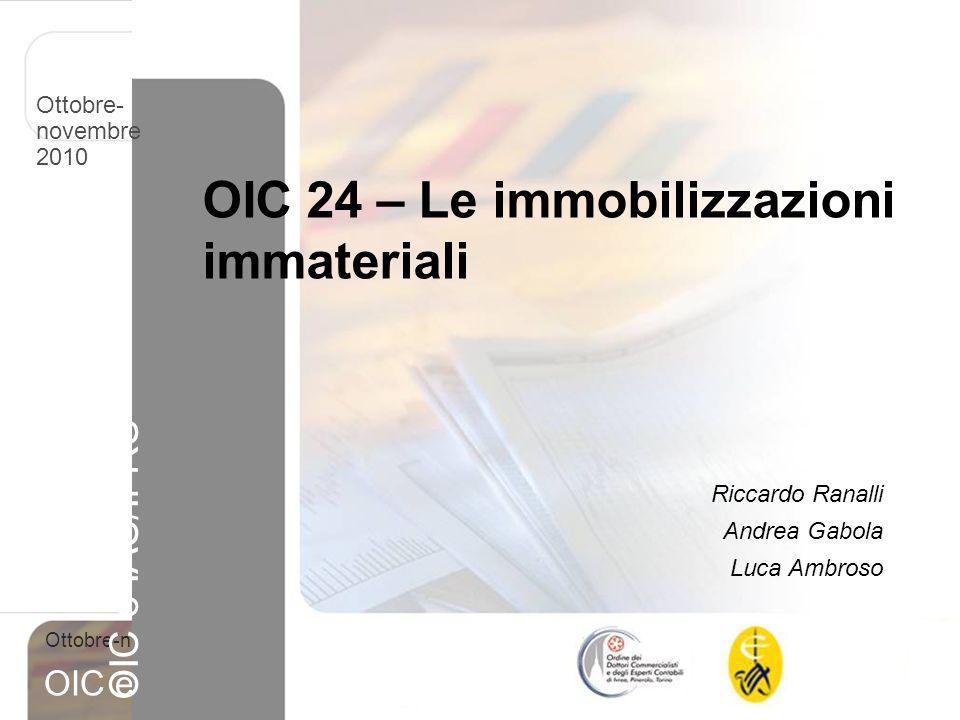 OIC 24 – Le immobilizzazioni immateriali