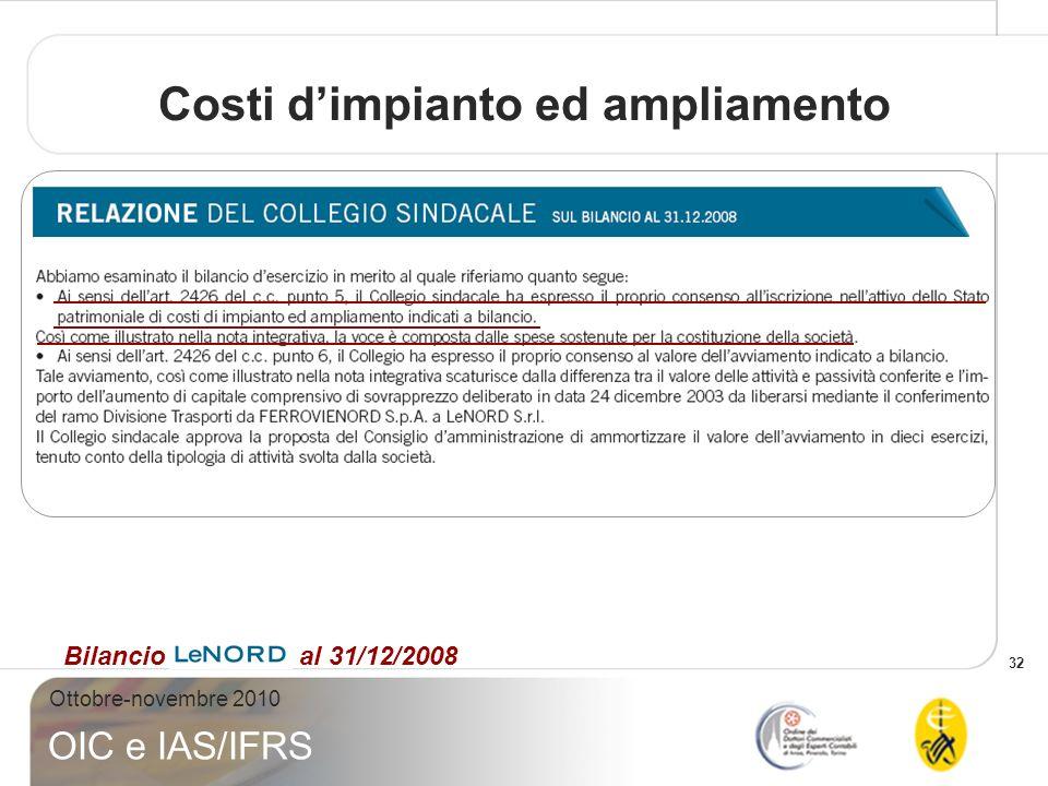 Costi d'impianto ed ampliamento