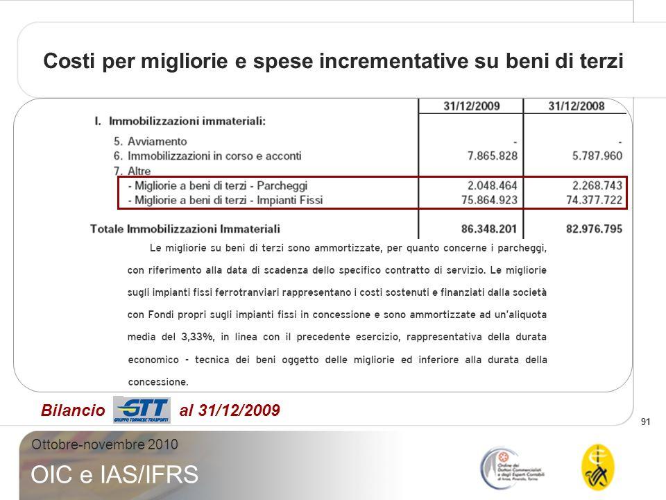 Costi per migliorie e spese incrementative su beni di terzi