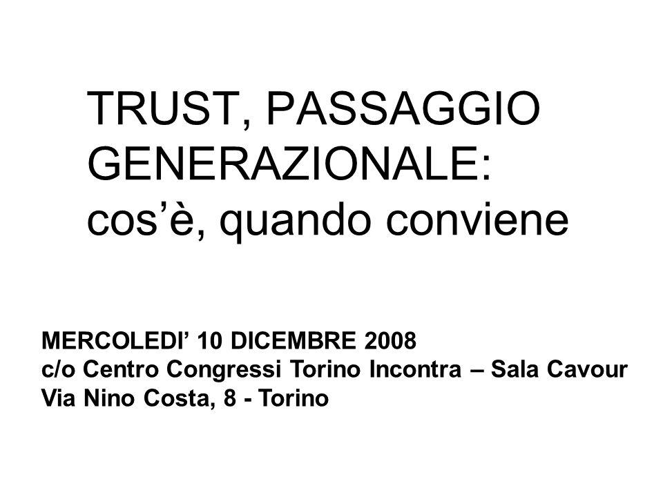 TRUST, PASSAGGIO GENERAZIONALE: cos'è, quando conviene