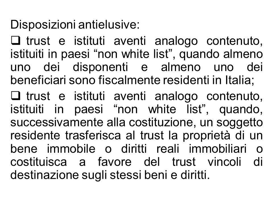 Disposizioni antielusive: