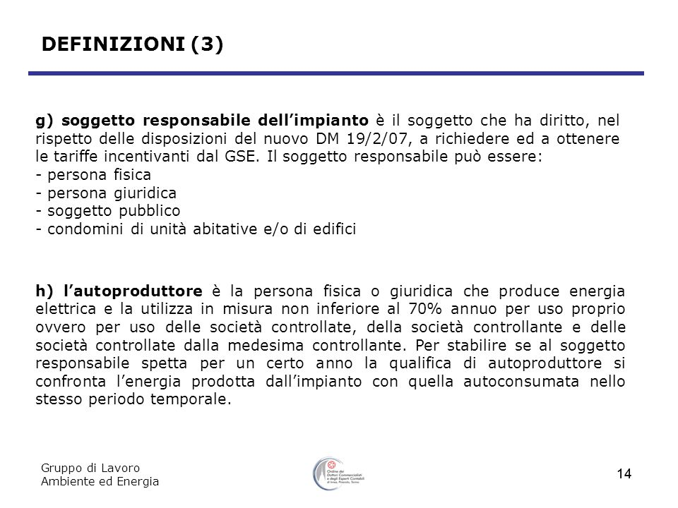 DEFINIZIONI (3)