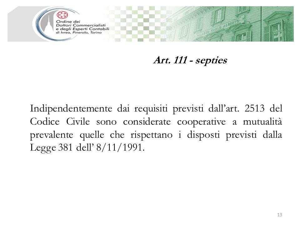 Art. 111 - septies