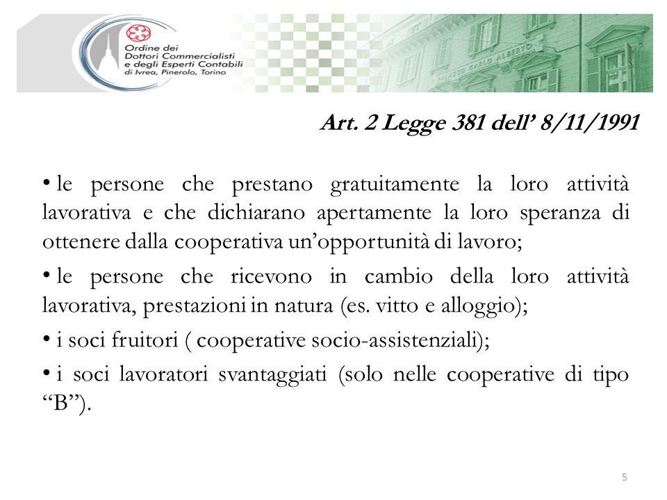 Art. 2 Legge 381 dell' 8/11/1991