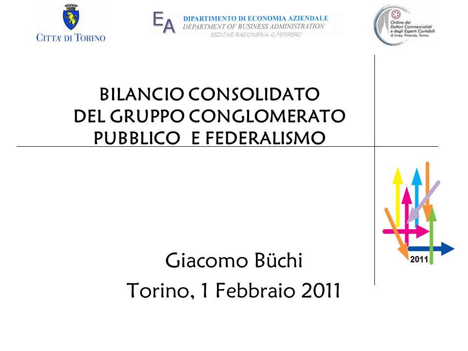 BILANCIO CONSOLIDATO DEL GRUPPO CONGLOMERATO PUBBLICO E FEDERALISMO