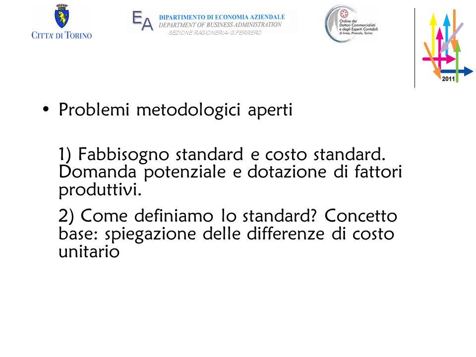 Problemi metodologici aperti
