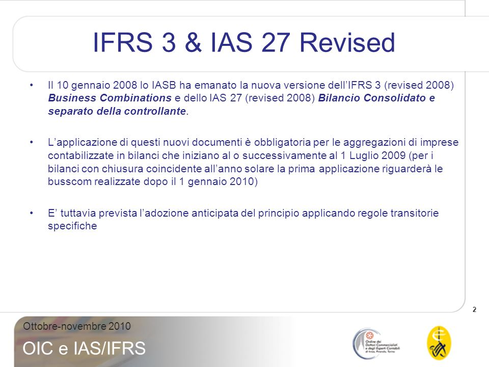 IFRS 3 & IAS 27 Revised